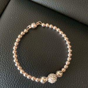 GUESS Rose gold bauble bar bracelet
